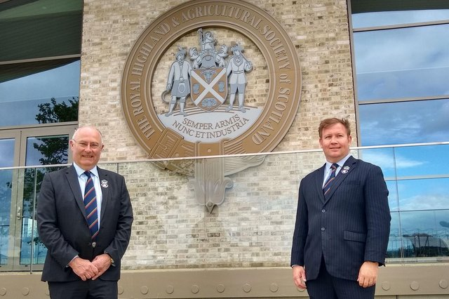 RHASS chairman Bill Gray and chief executive Alan Laidlaw outside the new members' pavilion