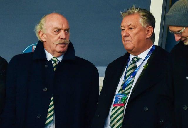 Celtic majority shareholder Dermot Desmond, left, and chief executive Peter Lawwell.