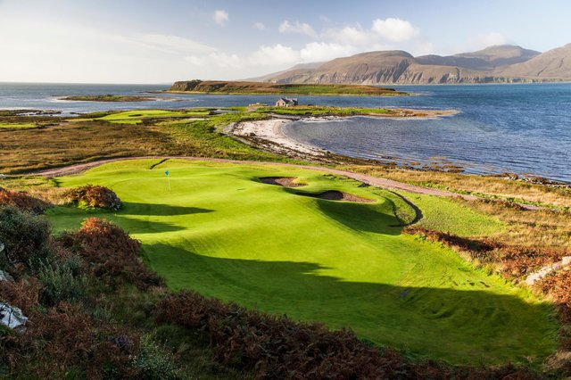Ardfin, which has been voted No 11 on a list of Scotland's top 100 courses, enjoys a spectacular setting on the southern tip of the island of Jura. Picture: Ardfin Estate