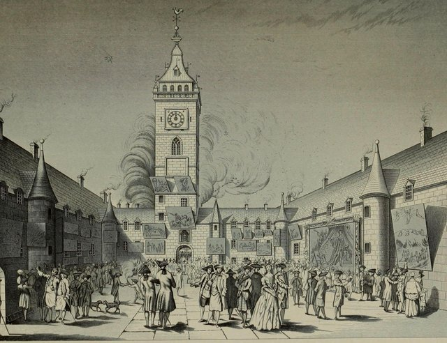 Glasgow in the mid-18th Century around the time of the Malt Riots, which led to more than 1,300 soldiers stationed on the streets to quell mass unrest over the introduction of a new tax. PIC: Creative Commons.