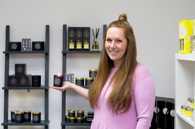 Stephanie Barnet, product development and marketing manager for Glasgow-based Shearer Candles.