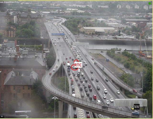 The five-vehicle crash happened at around 5.30pm on Thursday June 24 on the Kingston Bridge in Glasgow.