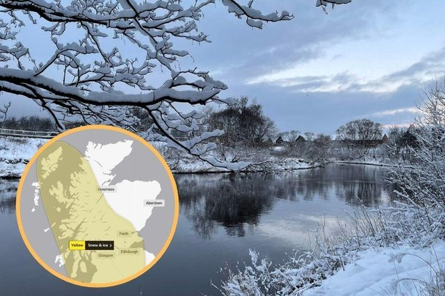 Yellow weather warning for snow and ice in parts of Scotland until weekend as Braemar plunges to -21.9C.