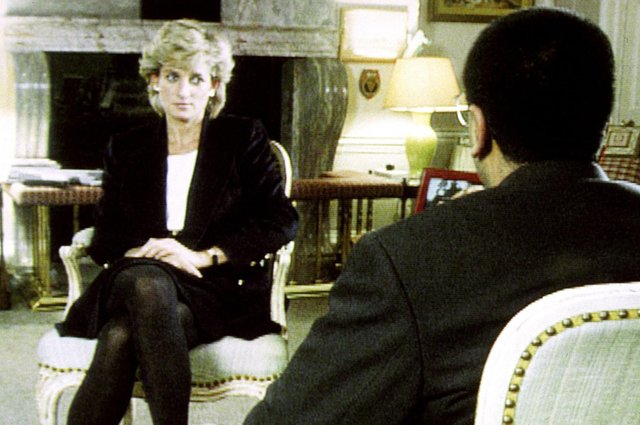 Diana, Princess of Wales, during her 1995 interview with Martin Bashir for the BBC (Picture: BBC/PA Wire)