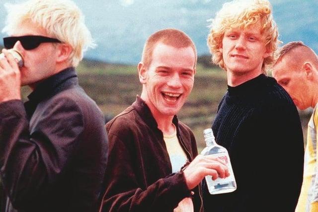 Jonny Lee Miller, Ewan McGregor, Kevin McKidd and Ewen Bremner on location in the Highlands.