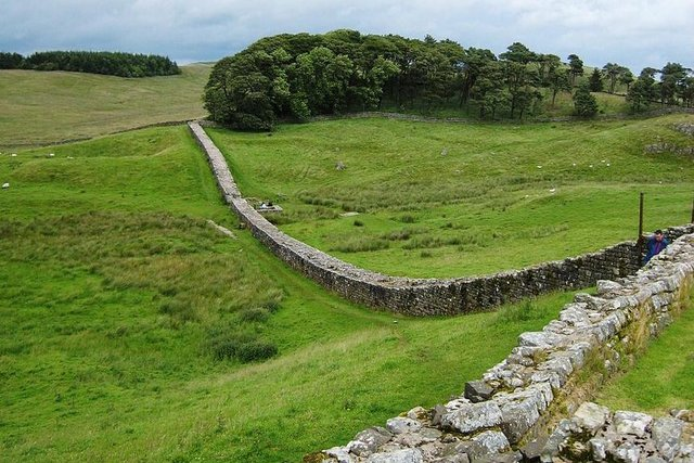 Hadrian's Wall once rose to height of 11 feet in places, but is now just a fraction of its former size.