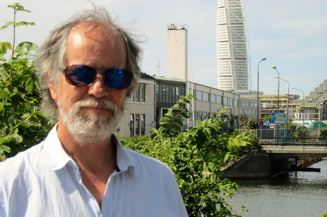 Author Torquil MacLeod at Turning Torso for the launch of the first Anita Sundstrom novel, Meet Me in Malmo