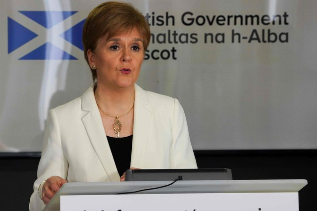 Scotland's First Minister Nicola Sturgeon. (Photo by HANDOUT/AFP via Getty Images)