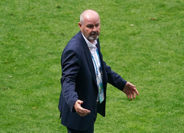 Scotland manager Steve Clarke on the touchline during the UEFA Euro 2020 Group D match at Hampden Park, Glasgow.  (Owen Humphreys/PA Wire)