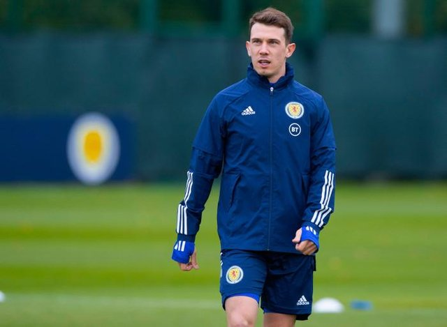 Ryan Jack was assessed and sent home from Scotland's training ahead of Thursday's match with Austria. The midfielder has been missing for Rangers since last month with a calf injury. (Photo by Alan Harvey / SNS Group)