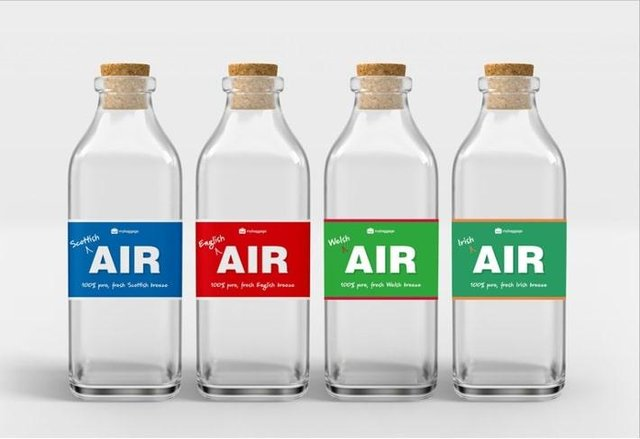 Scottish air is being sold for £25 a bottle.
