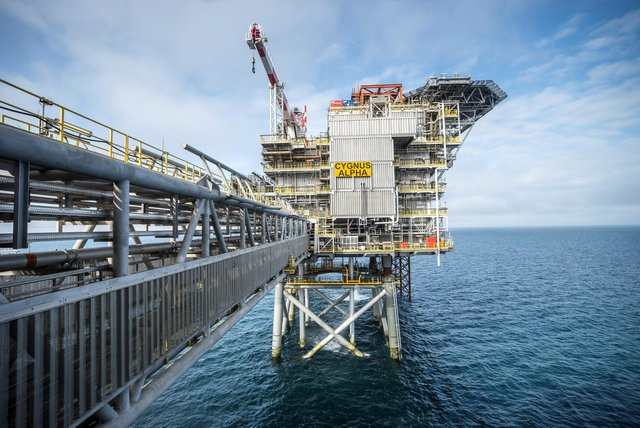 Neptune's Cygnus platform in the North Sea will be at the centre of a first-of-its-kind study aimed at reducing the environmental impact of the oil and gas sector. Picture: contributed.
