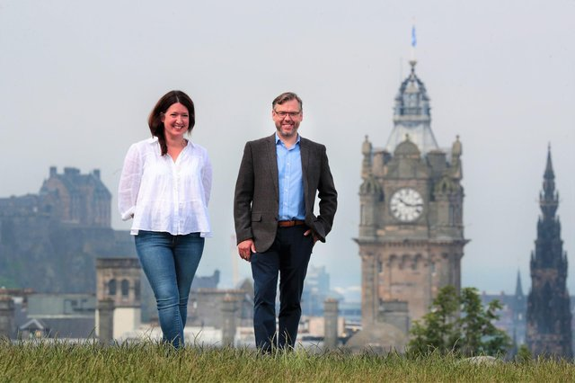 Carolyn Jameson and Steve Garland of Trustpilot, which has a base in Edinburgh. Picture: Stewart Attwood
