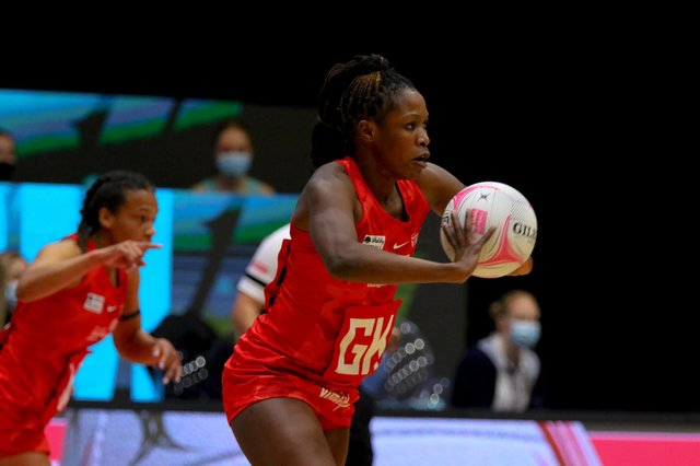 Strathclyde Sirens goal keeper Towera Vinkhumbo was a standout player during their Vitality Netball Superleague campaign.
