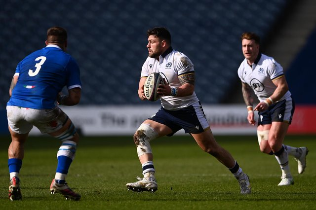 Scotland prop Rory Sutherland is staying with Edinburgh, says Richard Cockerill. Picture: Stu Forster/Getty Images