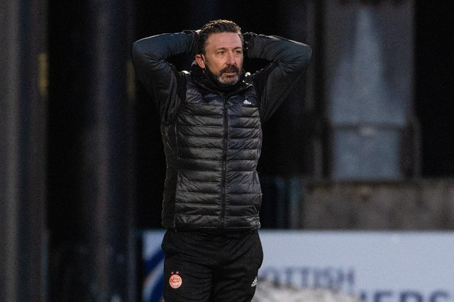 Aberdeen manager Derek McInnes during the frustrating 0-0 drew with Livingston (Photo by Craig Foy / SNS Group)