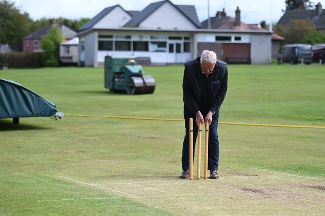 Peter CJ Drummond, vice president of Meigle Cricket Club who made a bit of cricketing history with their defeat of Arbroath. Picture: John Devlin