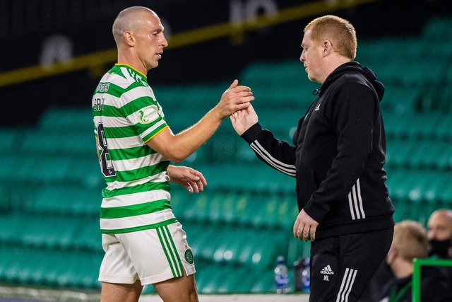 The careers of Celtic manager Neil Lennon and Scott Brown (left) have run hand-in-hand (Craig Williamson / SNS Group)
