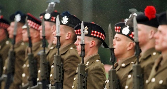 Hundreds of homes for the military are lying empty in Scotland