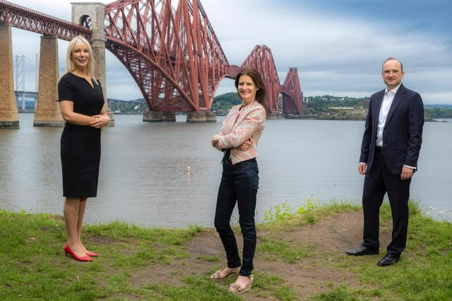 Left to right: Joanne Lecky, newly-appointed managing director of Murgitroyd's trade mark group; Helen Archibald, the company's new chief operating officer; and Gordon Stark, chief executive. Picture: Peter Devlin