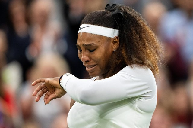 Serena Williams was in tears after suffering injury.