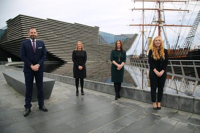 Lindsay Darroch, Nyona Nicol, Karin Bousie and Kasia Thomson of Gilson Gray in Dundee. Picture: Derek Gerrard
