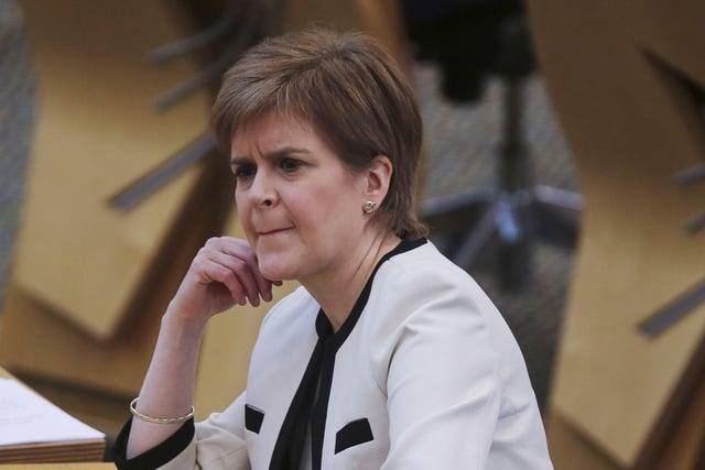 Nicola Sturgeon was under pressure over the Alex Salmond allegations.