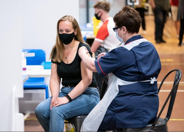 Vaccination in Doncaster, England. Picture: PA Media