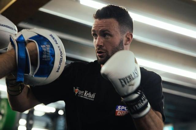 Josh Taylor is preparing for his super lightweight showdown against Mexican-American, Jose Ramirez, in Las Vegas, next month. Picture: Neil McDonald / Media Zoo Scotland