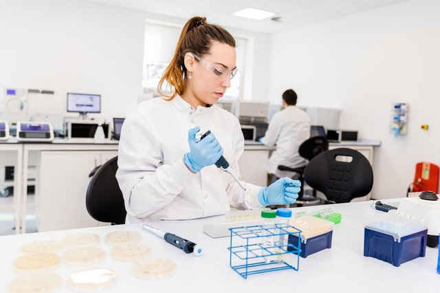 Lab technicians working in the ODx lab on the Inverness Campus. Picture: Paul Campbell