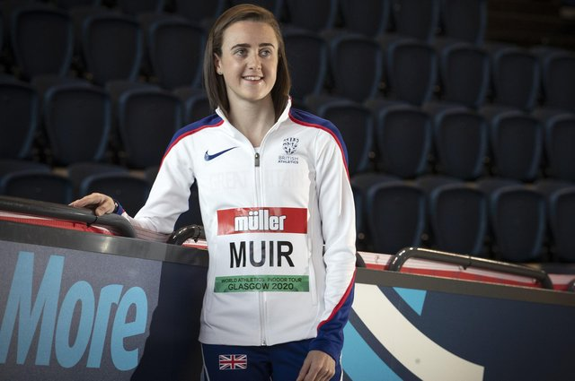Laura Muir will continue her preparations for the Tokyo Olympics at the Muller Grand Prix in Gateshead later this month. Picture: Jane Barlow/PA Wire