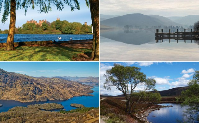 Some of the views from Scotland's best lochside walks.