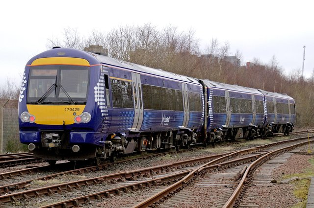 A ScotRail train of the type involved in the doors incident