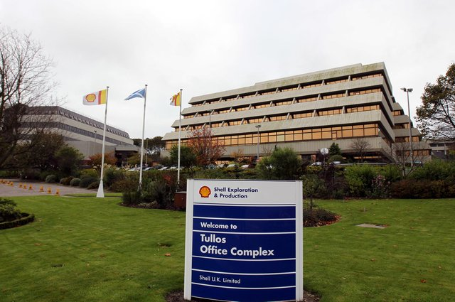 The Shell Exploration and Production offices in Aberdeen. Picture: Andrew Milligan/PA