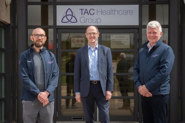 From left: Dr Leiper, Dr Dick and Mr Park. Picture: Michal Wachucik/Abermedia.