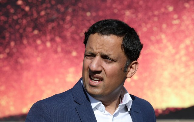 Scottish Labour leader Anas Sarwar during a photocall in Edinburgh, for the launch of the party's advertising van campaign for the Scottish Parliamentary election.