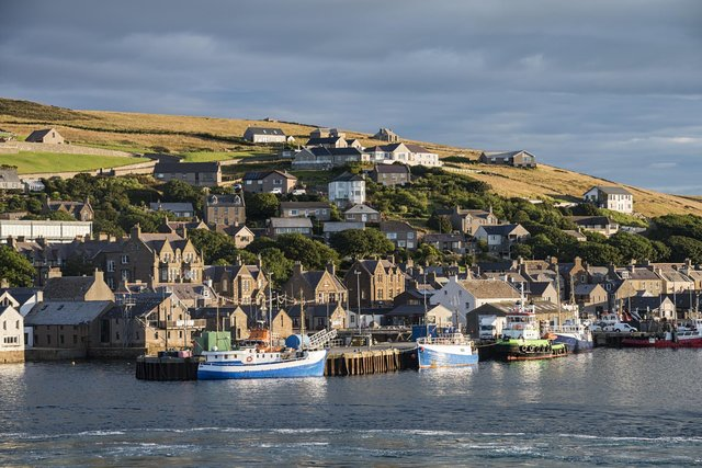 The town of Stromness, Orkney