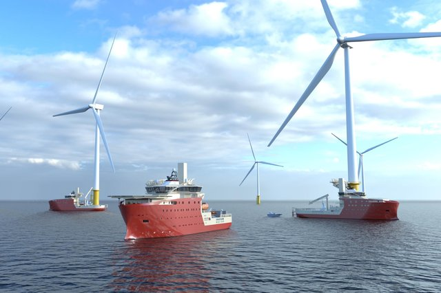 The state-of-the-art hybrid trio will operate on the Dogger Bank wind farm in the North Sea.