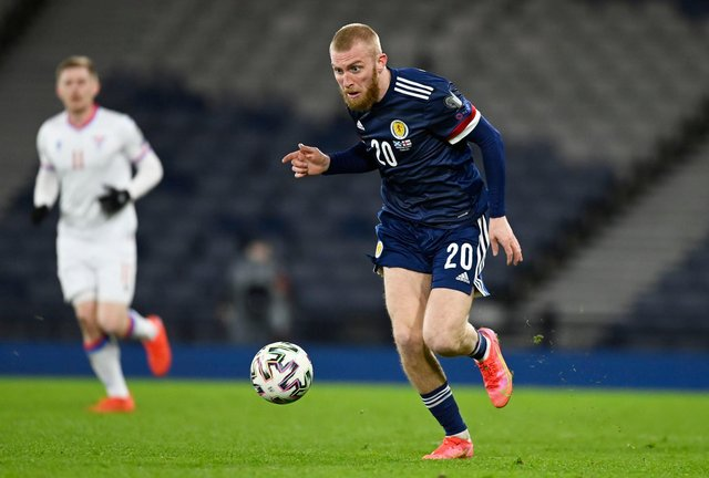 Scotland striker Oliver McBurnie was allegedly shown in a viral video attacking a 21-year-old male. Picture: SNS