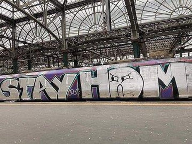 ScotRail said the graffiti caused needless cleaning. Picture: John McGowan