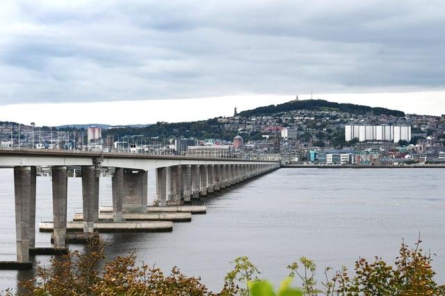 Tay road bridge, view of Dundee from Fife (Photo: John Devlin).
