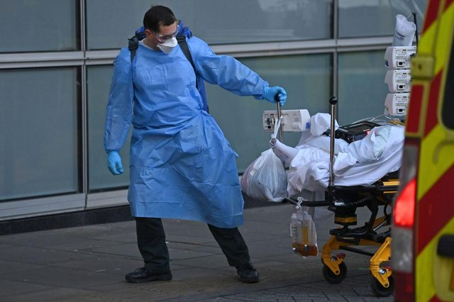 More people are now in hospital with coronavirus in Scotland than at any time during the pandemic, despite new infections falling to the lowest level in almost three weeks. (Photo by DANIEL LEAL-OLIVAS / AFP)