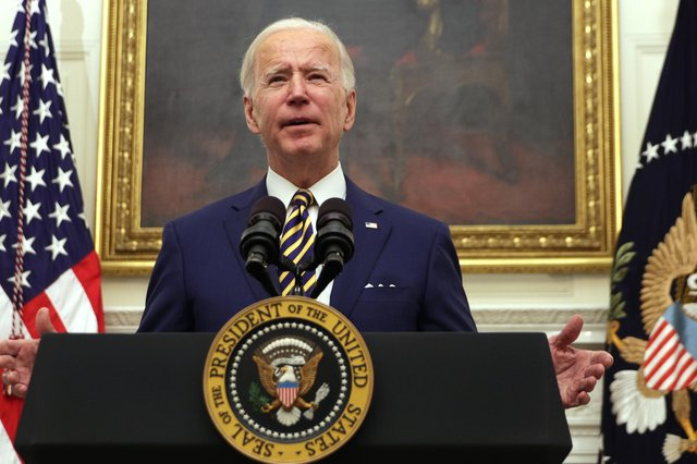 US President Joe Biden has given Scotland's economy a huge boost by scrapping Donald Trump's tariff on Scotch whisky (Picture: Alex Wong/Getty Images)