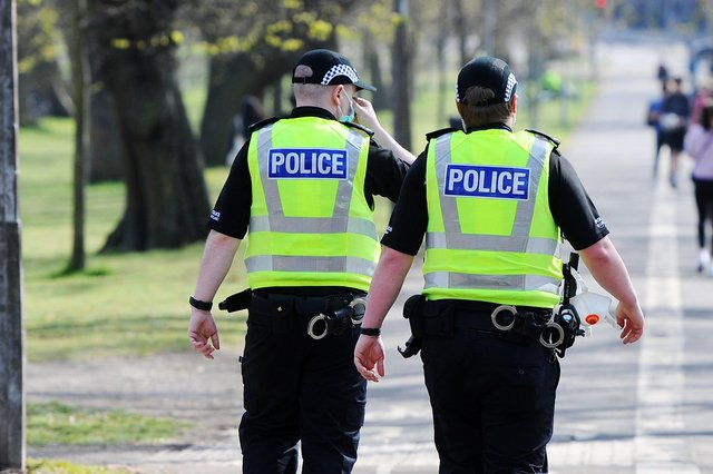 The report's authors warn that frontline officers are enduring chronic stress during the pandemic. Picture: Michael Gillen