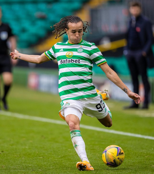 """Celtic on-loan defender Diego Laxalt admits it could be """"weird"""" after he faces parent club AC Milan (Photo by Craig Williamson / SNS Group)"""