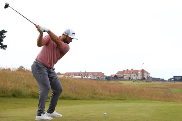 Jon Rahm, pictured in action in last week's abrdn Scottish Open, has one of the shortest backwings in professional golf. Picture: Andrew Redington/Getty Images.