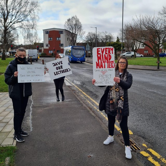Further education college lecturers have been on strike since March 25.