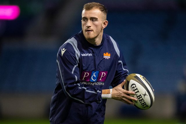 Edinburgh's Nathan Chamberlain has retained the No 10 jersey for the Rainbow Cup clash with Glasgow Warriors. Picture: Ross Parker/SNS