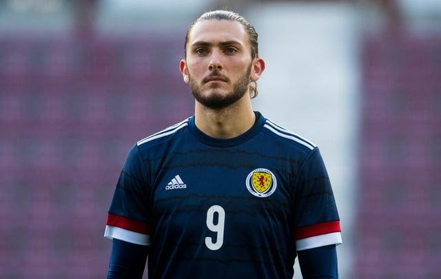 Fraser Hornby ha battuto il record di reti Under 21 della Scozia.  Foto: SNS