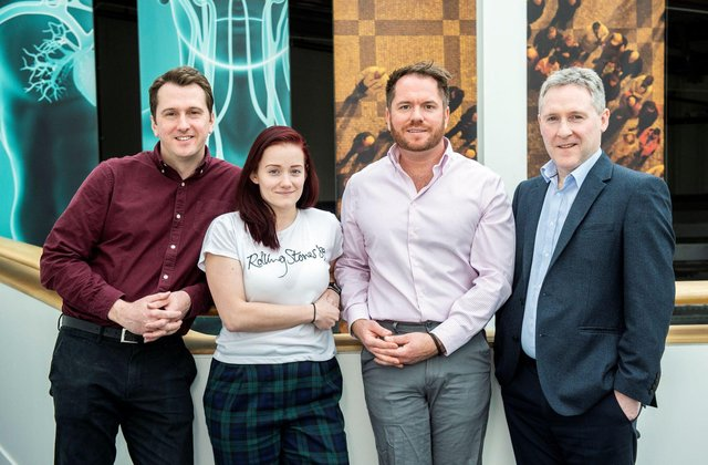 From left: Dr David Palmer, Dr Holly Butler, Dr Matthew Baker and Dr Mark Hegarty. Picture: contributed.